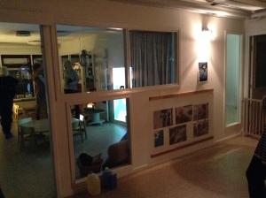 Fönster mellan rum, dokumentation bakomom plexiglas